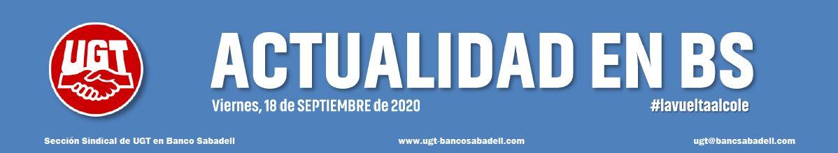 info UGT: ACTUALIDAD EN BS 18.09.2020